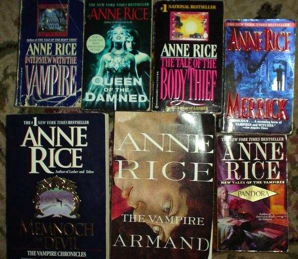 10 Fabulosos libros Vampiricos de Anne Rice